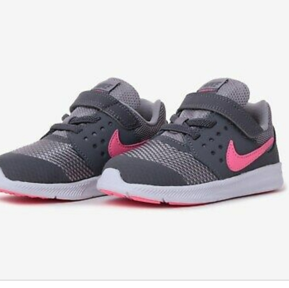 Nike Girls Youth Downshifter 7 GS GRADE SCHOOL Gray Pink SIZE 6.5  6.5Y